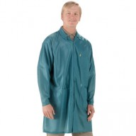 "Tech Wear ESD-Safe 37""L Traditional Coat OFX-100 Color: Teal Size: Small"