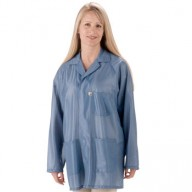 "Tech Wear ESD-Safe 31""L Traditional Jacket With ESD Cuff OFX-100 Color: Hi-Tech Blue Size: X-Large"