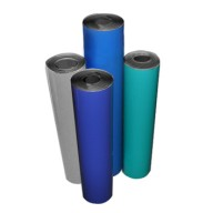 """Transforming Technologies 2-Layer Rubber Roll 24""""x50'x.080 Color: Gray"""