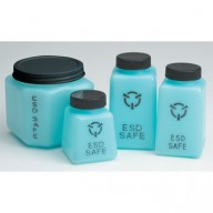 R&R Lotion ESD-Safe Square Storage Bottle w/Lid 6oz Blue 50/Case