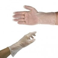 "QRP QualaSheer® XC ESD-Safe Cleanroom 12"" Vinyl Gloves 6mil Powder-Free Color: Clear Size: Large100/Pak"