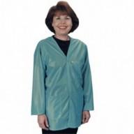 """Tech Wear ESD-Safe V-Neck 32""""L Jacket OFX-100 Color: Teal  Size: 2X-Large"""