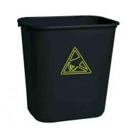 Transforming Technologies ESD Safe Waste Basket: 22 Gallon Black