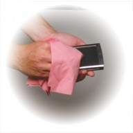 "Transforming Technologies ESD-Safe Cleanroom Polyester Knit Pink Wipe 9""x9"" 100/Pack"