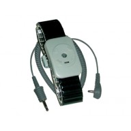 Transforming Technologies Dual Conductor Black Speidel Metal Wrist Strap With 5' Coil Cord Size: Large
