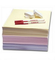 Clean-Write Paper 8.5x11 Cleanroom Impregnated & Coated with Polymer Formula Color: Blue 250Sheets/Ream 5Reams/Case