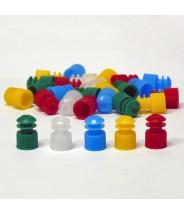 Globe Scientific  Flanged Plug Cap 12mm Polyethylene Color: Black 1000/Pack