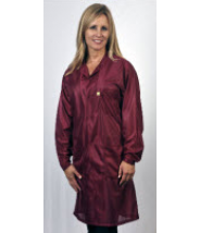 "Tech Wear ESD-Safe 32""L Traditional Coat OFX-100 Color: Burgundy Size: 2X-Large"