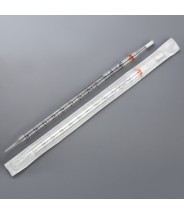 Globe Scientific UniPlast™ Plastic Serological Pipette 10mL Polystyrene Standard Tip 297mm Non-Sterile Orange Striped 25/Pack 10 Packs/Case