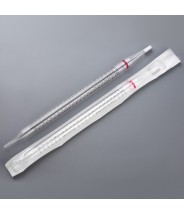 Globe Scientific UniPlast™ Plastic Serological Pipette 25mL Polystyrene Standard Tip 300mm Non-Sterile Red Striped Individually Wrapped 100/Case