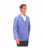 "Tech Wear Nylostat ESD-Safe 30""L Jacket Cotton/Poly Woven Color: Blue Size: Large"