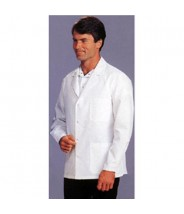 "Tech Wear Nylostat ESD-Safe 31""L Jacket Cotton/Poly Woven Color: White Size: 4X-Large"