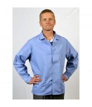 "Tech Wear Nylostat ESD-Safe 29""L Jacket Cotton/Poly Woven Color: Nasa Blue Size: Medium"