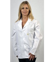"""Tech Wear Nylostat ESD-Safe 29""""L Jacket Cotton/Poly Woven Color: White Size: X-Small"""
