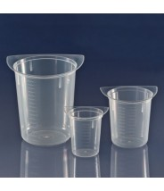 Globe Scientific Tri-Corner Clarified Plastic 50mL Beaker Polypropylene 100/Case