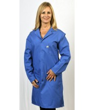 "Tech Wear Nylostat ESD-Safe 42""L Coat Cotton/Poly Woven Color: Nasa Blue Size: 4X-Large"