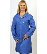 "Tech Wear Nylostat ESD-Safe 41""L Coat Cotton/Poly Woven Color: Blue Size: Large"