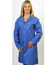 "Tech Wear Nylostat ESD-Safe 40""L Coat Cotton/Poly Woven Color: Blue Size: Small"