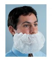 "Ultraguard Beard Cover White Polypropylene One Size17""x9"" (Stretched) 1000/Case"