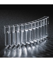 Globe Scientific Cuvette, for use with Cobas Mira, Mira S, Mira Plus and Horiba ABX Mira Plus analyzers, Individually Wrapped, 50/Box, 10 Boxes/Unit (500/Case)