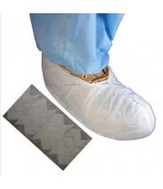 Epic Shoe Cover Cleanroom Skid Free Polypropylene Color: White Size: Large 100/Bag 3Bags/Case