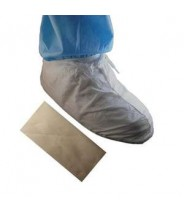Epic Shoe|Boot Cover Cleanroom Disposable Anti-Static Microporous W/ PVC Sole Color: White Universal Size 100/Case