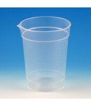 Globe Scientific Specimen Container 6.5oz With Pour Spout Polypropylene Graduated 500/Cs