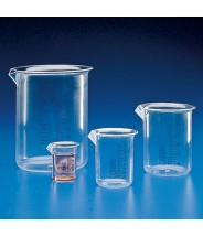 Globe Scientific Beaker Griffin Style Low Form 3000mL Polymethylpentene With Printed Graduations 2/Pack