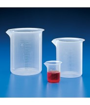 Globe Scientific Beaker Griffin Style Low Form 3000mL Polypropylene With Molded Graduations 2/Pack
