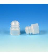 Globe Scientific  Cap Plug  For 15mL Centrifuge Tubes Polyethylene Color:  Natural 1000/Pack