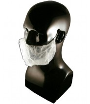 Epic Cleanroom Disposable Beard Cover White Polypropylene *Latex Free* One Size 1000/Case