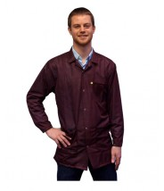 Transforming Technologies JKC 9021SPMR ESD - Traditional Lab Jacket, ESD, Snap Cuff Wrist, Color: Maroon, Size: X-Small