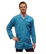 Transforming Technologies ESD Traditional Lab Jacket, ESD Snap Cuff Wrist, Color: Teal, Size: 5X-Large