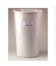 "ACL Staticide Trash Can Liner 11 Gallon 34""x 24"" Pink Anti-Static 1.5mil Polyethylene 50/Pack"