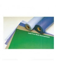 "ACL Staticide Dualmat™ 2-Layer Diss/Cond Rubber Worktop Mat 36""x72""x0.80""  Light Blue/Black W/ 2 Snaps"