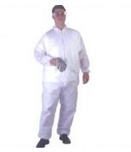 UltraGuard Coveralls  Advantage I Elastic Wrist & Ankle Color: White Size:Large 25/case