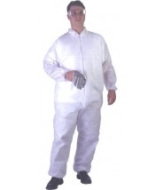 UltraGuard Coveralls  Advantage I Elastic Wrist & Ankle Color: White Size:Medium 25/case