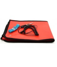 "Botron Dissipative Field Service Kit 24""x24"" 2-Pocket, W/Wrist Strap Set & Ground Cord Color: Red"
