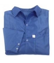 Botron Light Weight ESD Jacket 88% Polyester/12% BASF Conductive Fiber W/Snap Cuff Size: X-Large Color: Blue