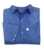 Botron Light Weight ESD Jacket 88% Polyester/12% BASF Conductive Fiber W/Snap Cuff Size: Small Color: Blue