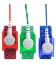 "Botron ""GEM"" Wrist Strap Set Emerald Fabric Adjustable With 1/8"" (4mm) Snap with 12' Coil Cord"