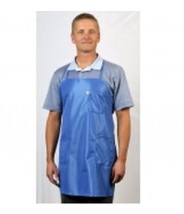 Tech Wear ESD-Safe Apron BBQ-Style IVX-400 Fabric With 3-Pockets One-Size-Fits-All Color: Nasa Blue