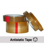 "Transforming Technologies Anti-Static 1""x72 Yard Transparent Tape 3"" Core No Print 6/Case"