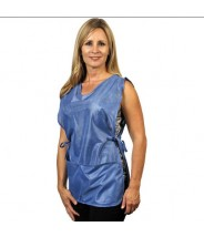 Tech Wear ESD-Safe Apron Cobbler Style OFX-100 Fabric With 2-Pockets Color: Blue Size: Small