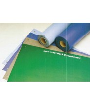 "ACL Staticide Dualmat™ 2-Layer Diss/Cond Rubber Worktop Mat 24""x72""x0.80"" Royal Blue/Black W/ 2 Snaps"
