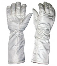 "Transforming Technologies ESD-Safe Cleanroom High Temp Nomex® Gloves 572Deg F Unisex 16""L Size: Medium"