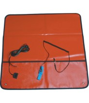 "Transforming Technologies ESD-Safe Field Service Kit 24""x24"" With (2) 10mm Female Snaps, Wrist Strap Set & Ground Cord Color: Red"
