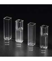 Globe Scientific Cuvette, Micro, 1.5mL, with 2 Clear Sides, PS 500/Case