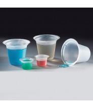 Globe Scientific Four Pour Spout  Beaker Disposable 5mL Polystyrene 1000/Case