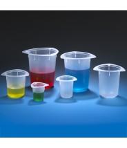 Globe Scientific Tri-Corner Plastic 50mL Beaker Polypropylene Economy Style 100/Case